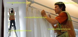 dịch vụ giặt màn cửa, giặt rèm cửa